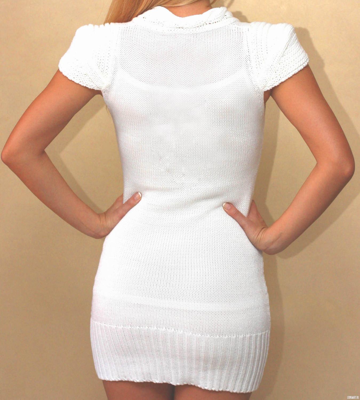 Украшение вязанного платья