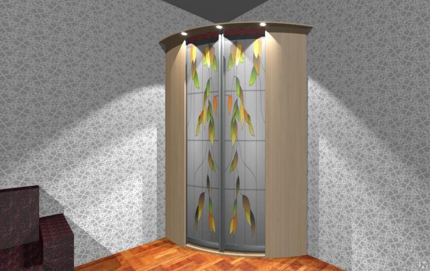 Радиусные шкафы-купе в прихожую и коридор: фото, видео.