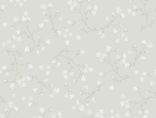 Обои с мелким цветочным рисунком, Decorama easy up 2016